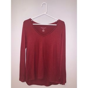 Soft red long sleeve